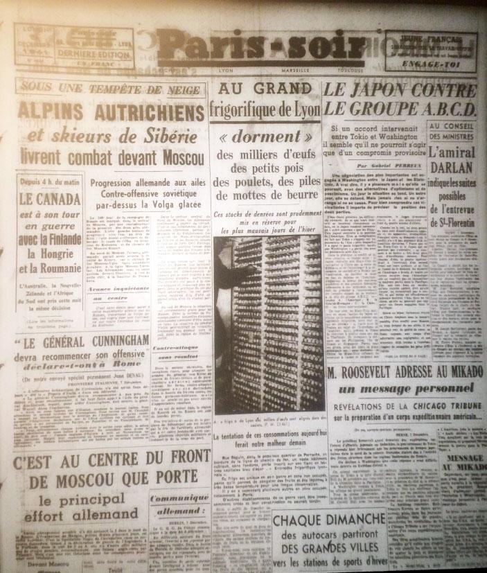 Paris-Soir n°6644 8 décembre 1941