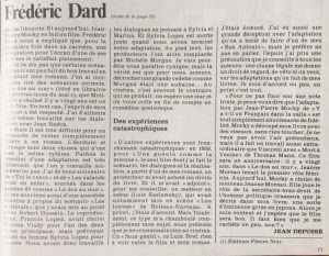 Télé Star n°210 article Dard suite