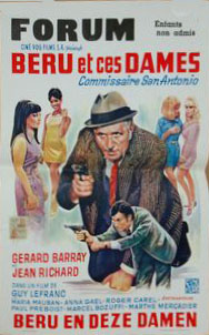 Affiche belge Béru et ces dames
