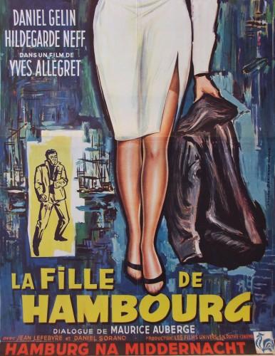 affiche belge la fille de hambourg