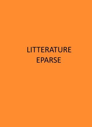 littérature éparse couv