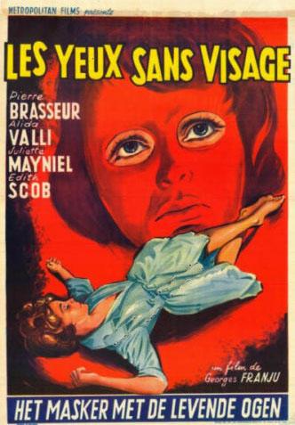 Affichette belge 40 sur 60 Les yeux sans visage