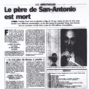 Aujourd'hui en France n°17342 texte sur Dard