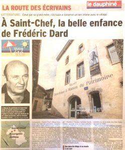 Le Dauphiné libéré 8 août 2017 haut article