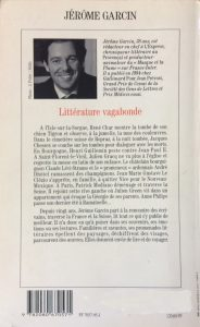 Littérature vagabonde 1995 back