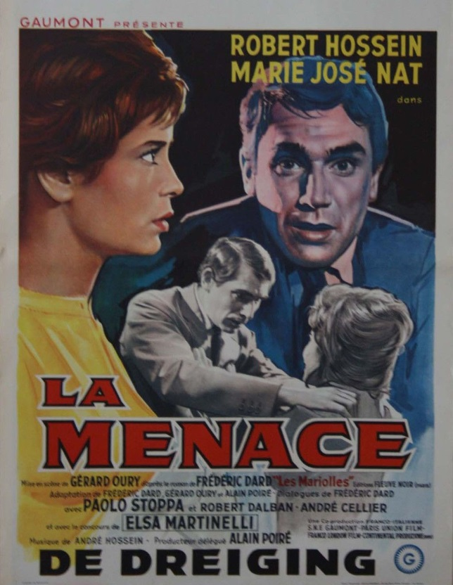 La menace - affichette belge