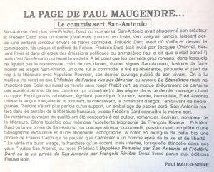 La tête en noir n°27.article Maugendre