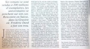 Le Figaro Magazine. texte article