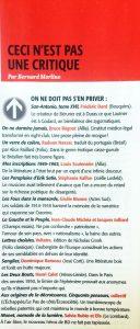 Le magazine littéraire n°579 texte