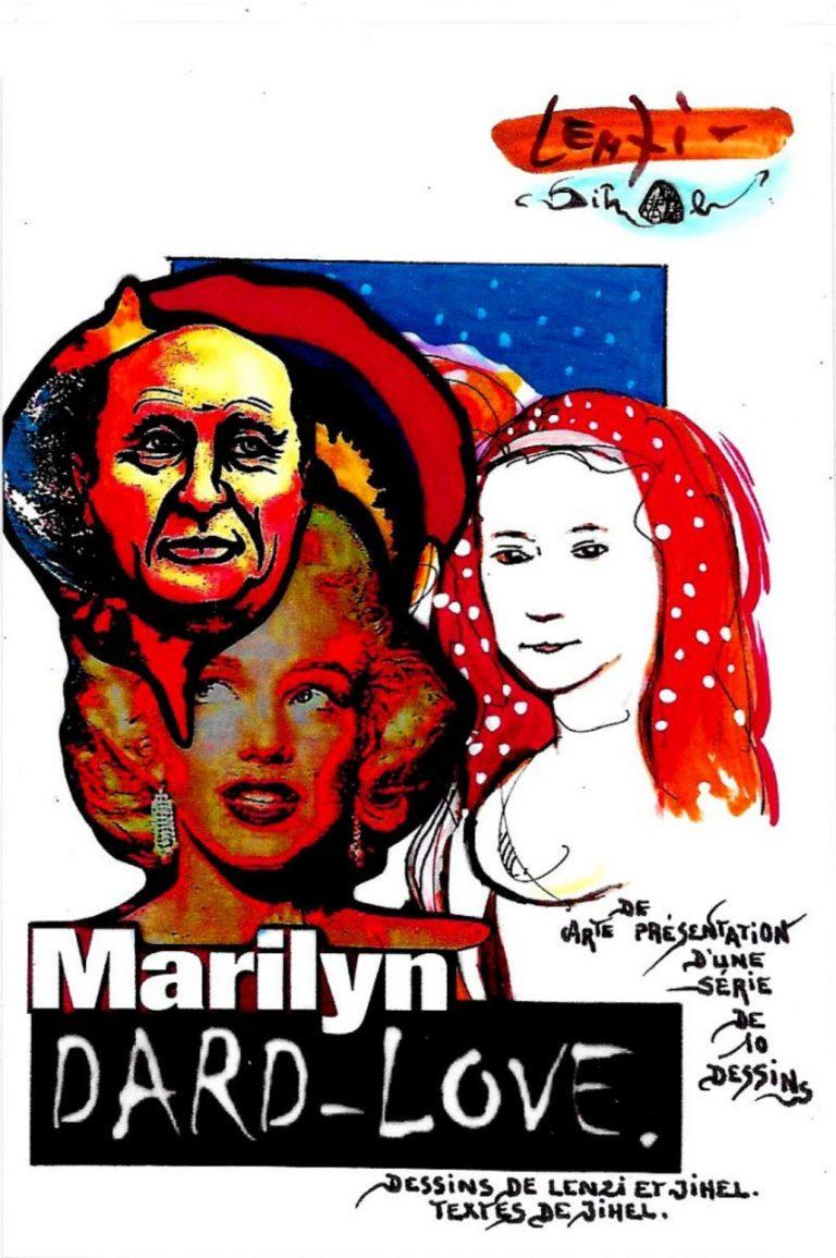 CPM Jihel LENZI Frédéric DARD San Antonio Marilyn MONROE carte presentation dard love