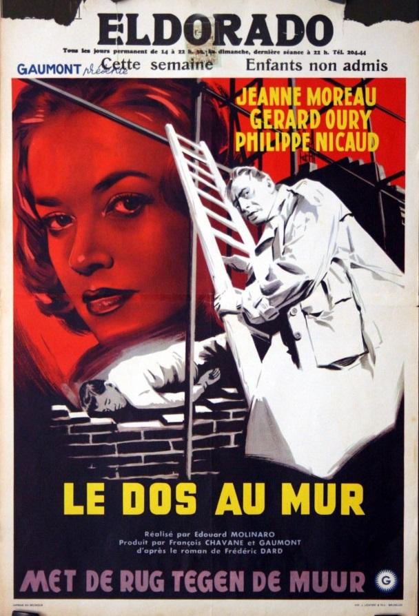 le dos au mur affichette belge Eldorado