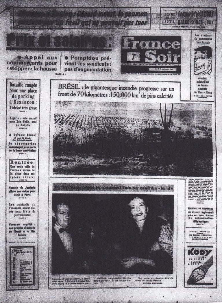France-Soir 10 sept 1963 edition 1