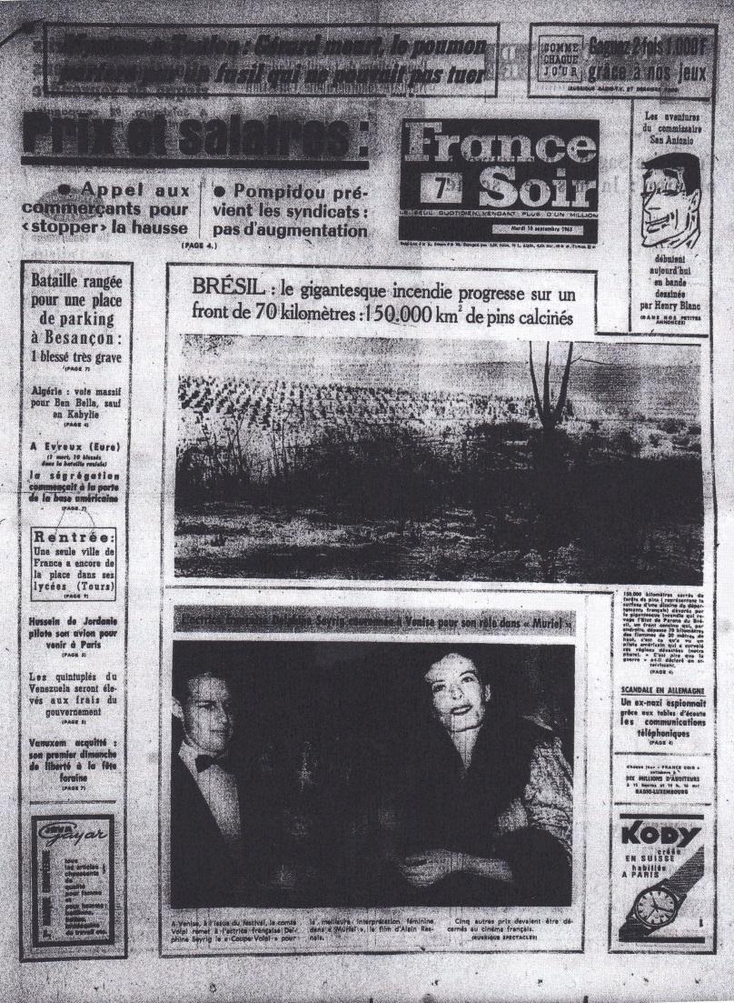 France-Soir 10 sept 1963 edition 1