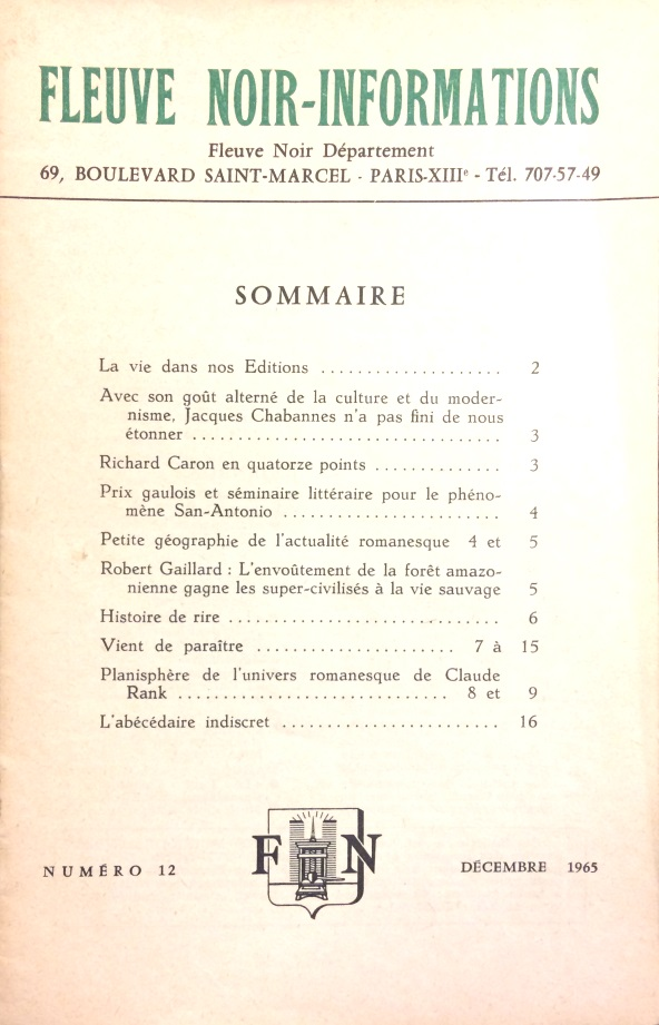 Informations Fleuve Noir n°12