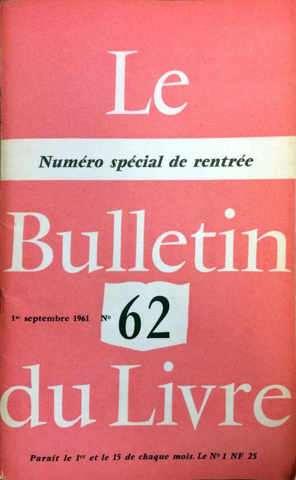 Bulletin du livre n°62