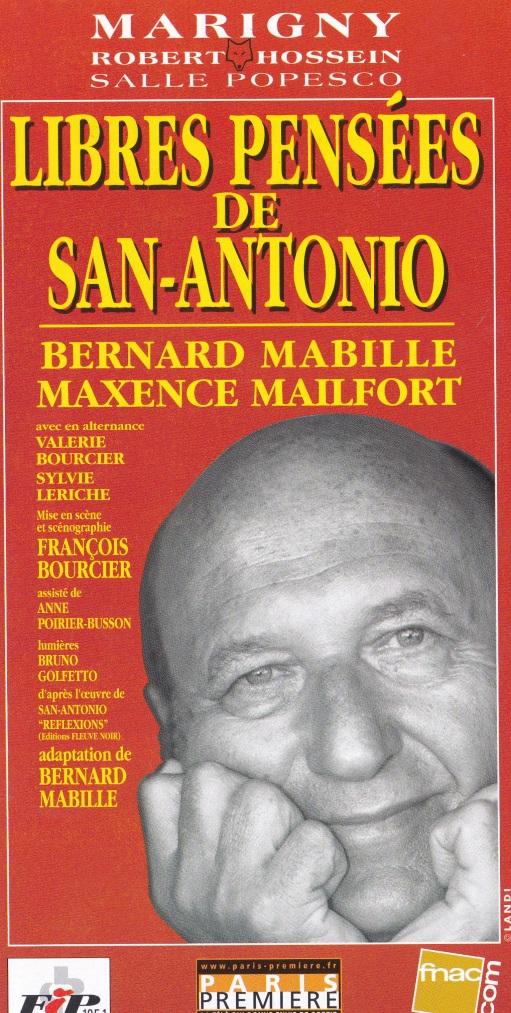 Flyer Libres pensées de San-Antonio