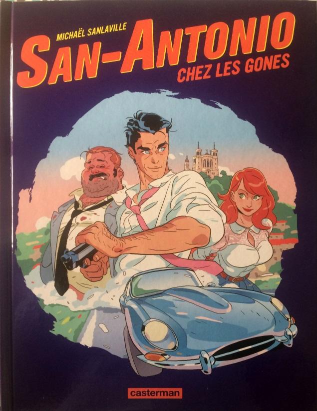 San-Antonio chez les gones BD