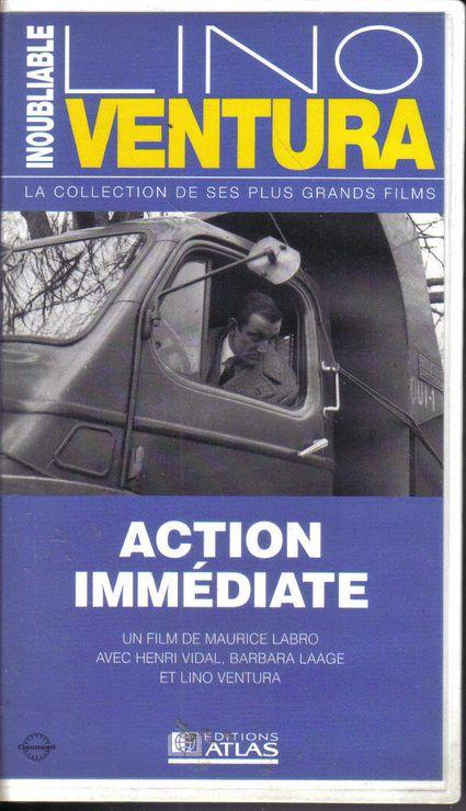 action immédiate cassette VHS