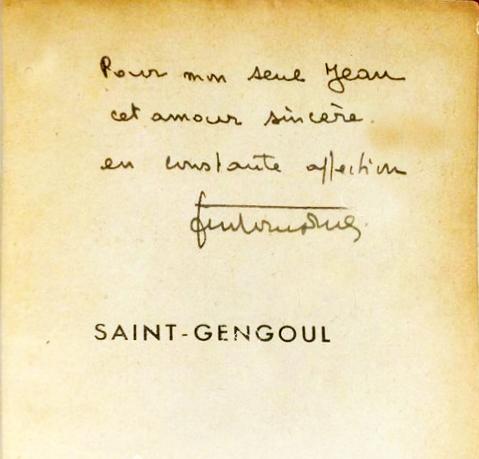 dédicace saint gengoul à Jean Chabran