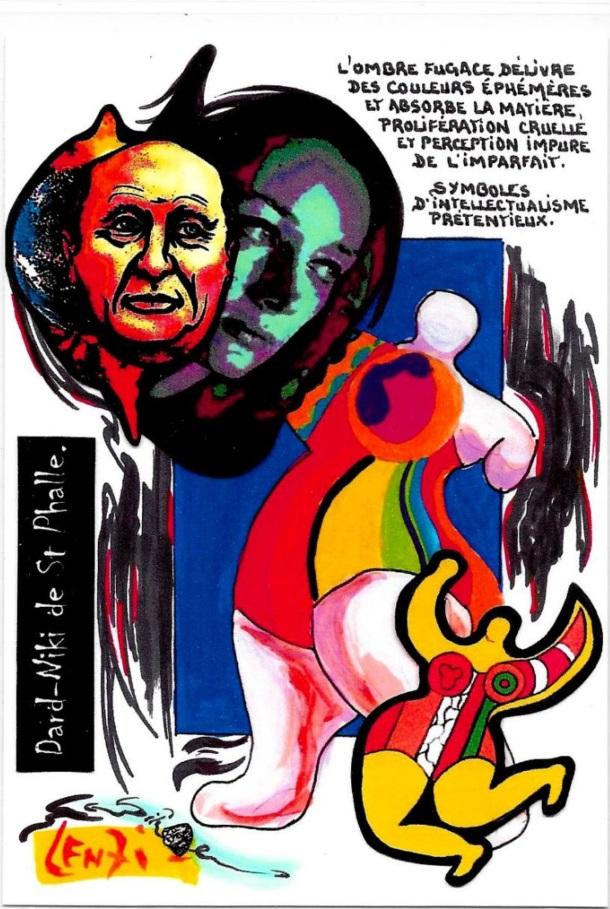 CPM LARDIE Jihel LENZI Frédéric DARD San Antonio Niki de Saint Phalle tirage signé numéroté en 30 exemplaires 6