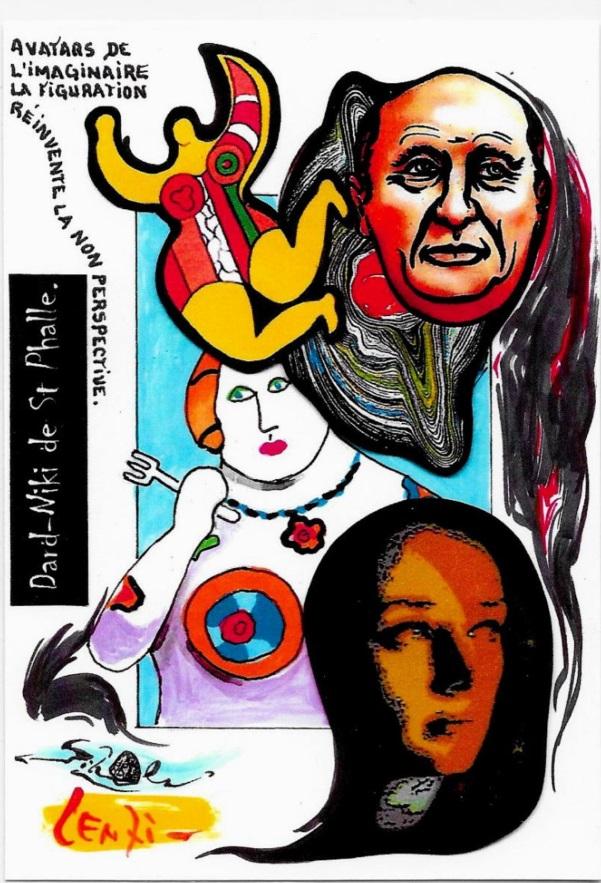 CPM LARDIE Jihel LENZI Frédéric DARD San Antonio Niki de Saint Phalle tirage signé numéroté en 30 exemplaires 7
