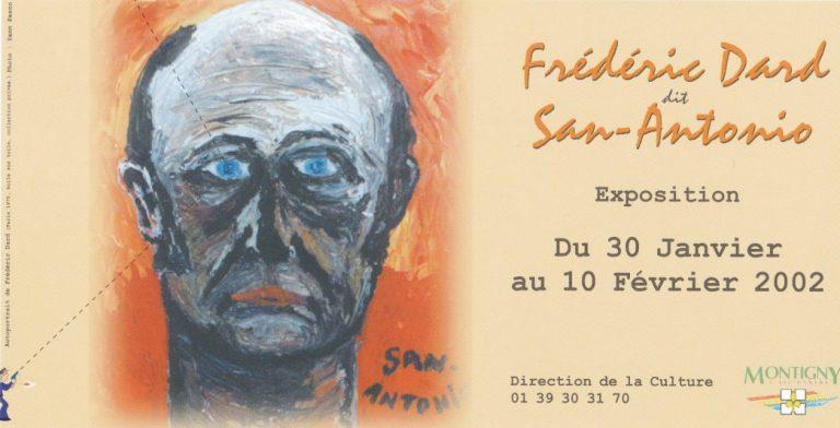 Carton invitation Exposition Frédéric Dard 2002