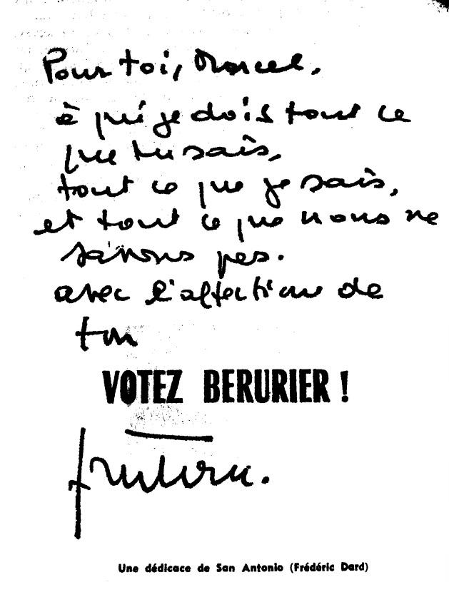 De Courteline à Curnonsky... Dédicace FD Votez Bérurier