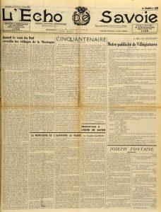 L'Echo de Savoie 11 mars 1939