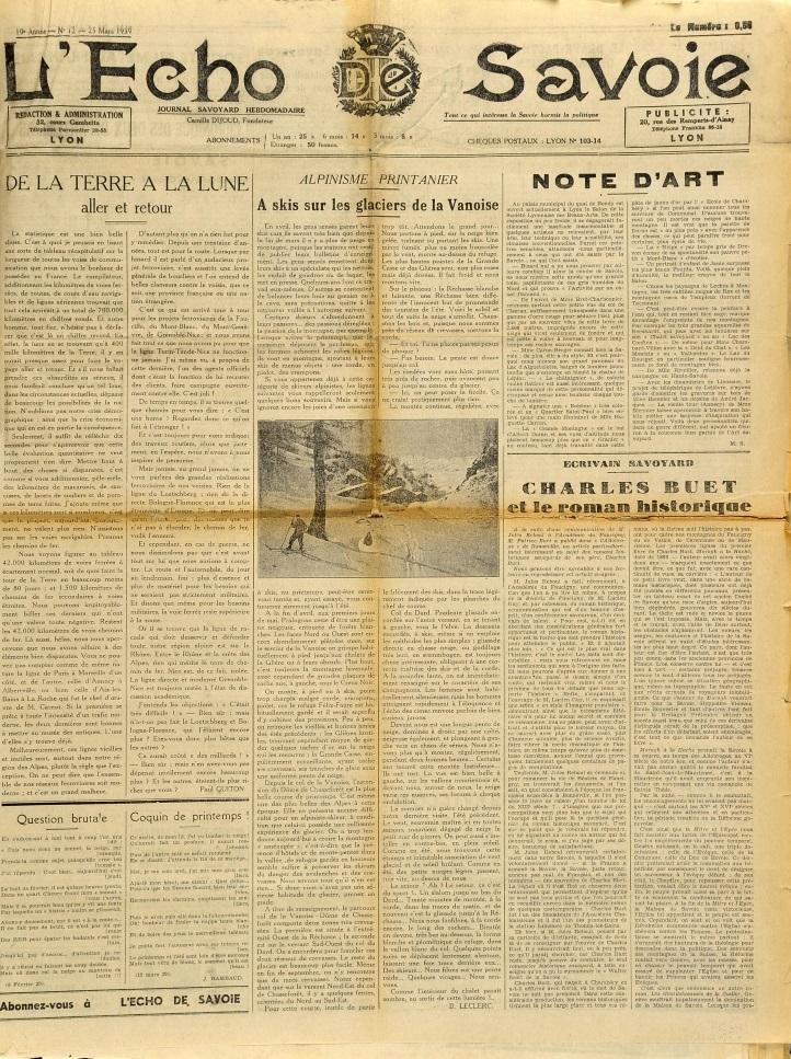 L'Echo de Savoie 25 mars 1939