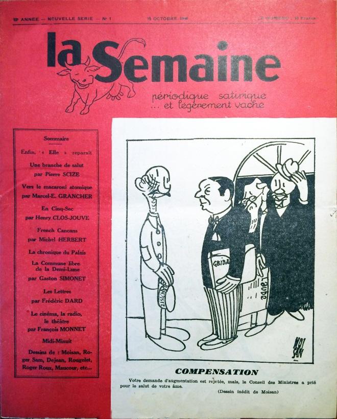 La semaine n°1 ns 15 octobre 1946