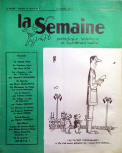 La semaine n°7 ns 15 avril 1947