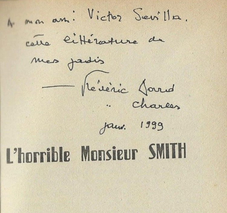 dedicace sevilla l'horrible Monsieur Smith