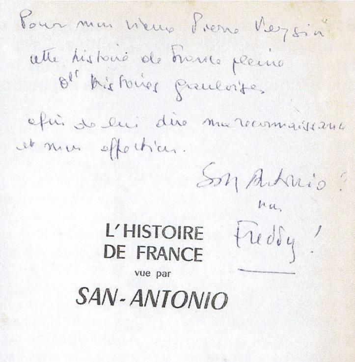 Dédicace à Veysin Histoire de France