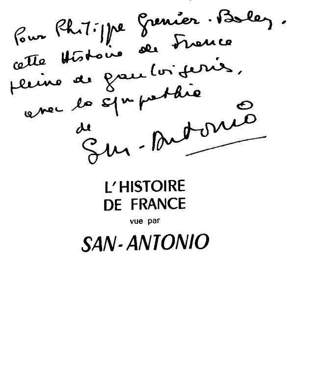 Dédicace Philippe Grenier-Boley L'Histoire de France