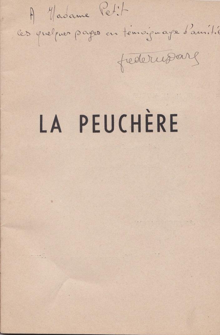 Dédicace Mme Petit La Peuchère