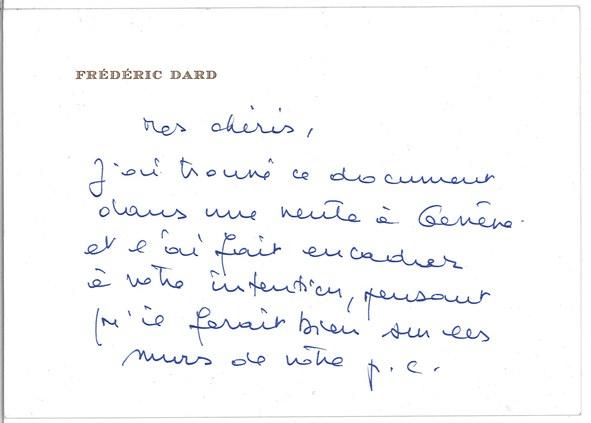 Lettre à Bricaire 3 octobre 1987
