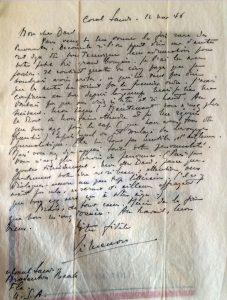Lettre simenon à Dard 12 nov 1946