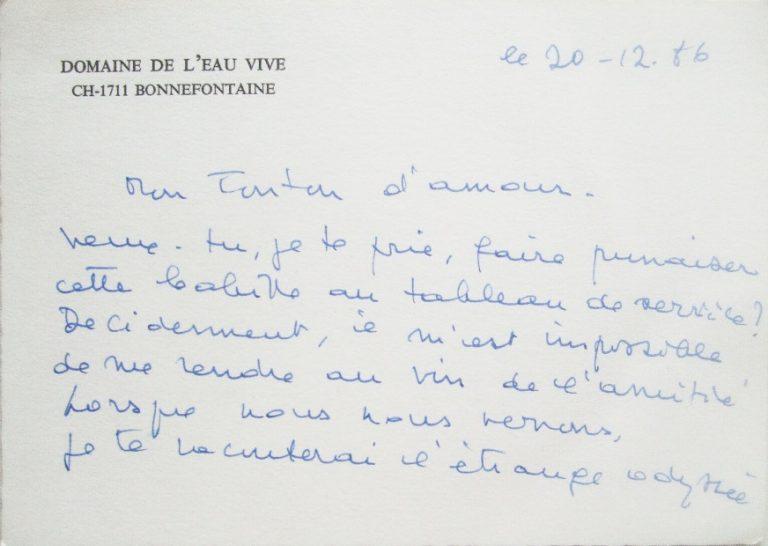 Mon tonton d'amour 1 lettre F Dard à J J Bricaire