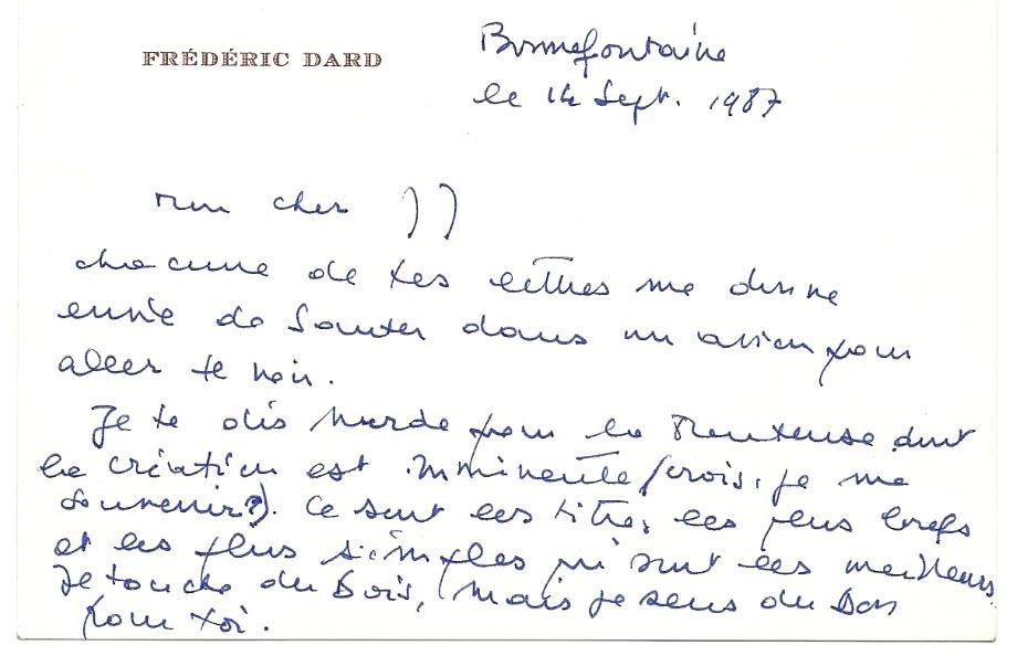 lettre Jean-Jacques Bricaire 14/09/1987