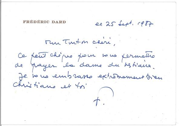 lettre du 25 sept 1987 à J.J. Bricaire