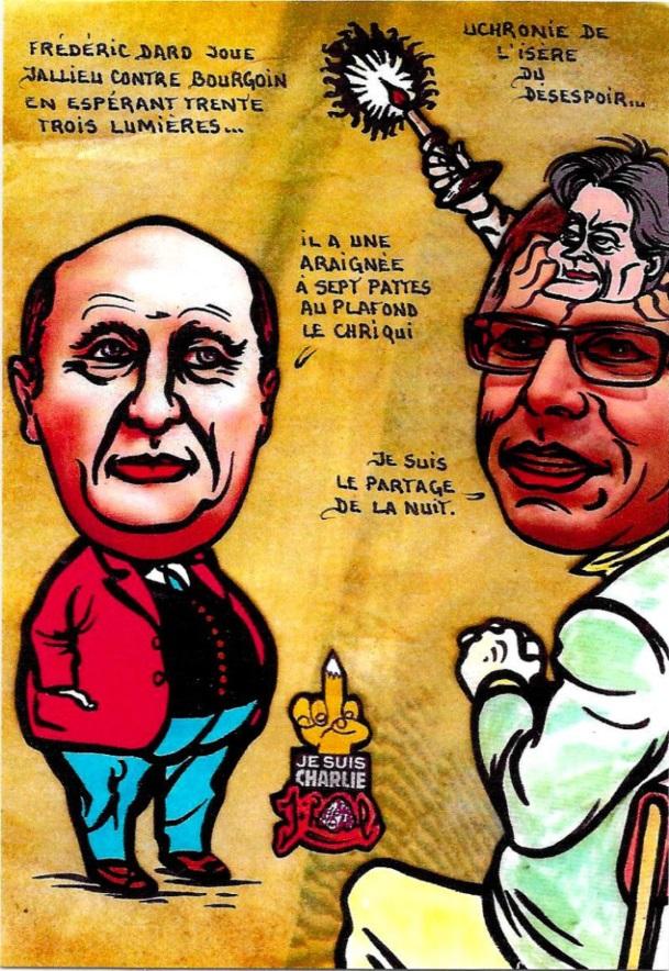 CPM JIHEL Bourgoin Isère satirique caricature CHRIQUI Frédéric DARD
