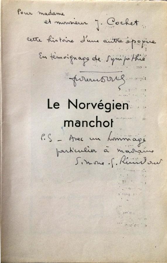 Cochet dedicace le norvegien manchot