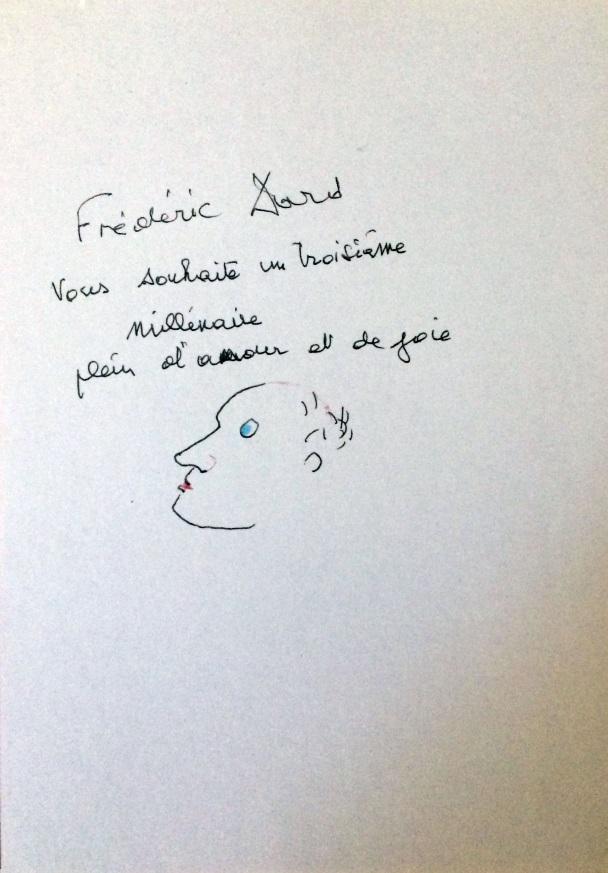 Dessin et texte Frédéric Dard vernissage 1