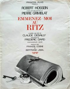 Affiche Emmenez-moi au Ritz
