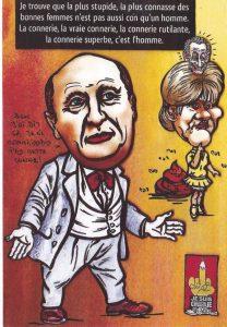 Dard Citation sur la connerie illustrée par Morano et Sarkozy