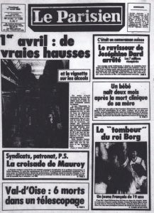 Le Parisien 1er avril 1983