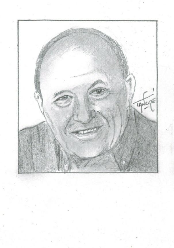 Portrait Frédéric Dard par Tancré