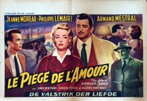 affichette belge Le piège de l'amour55x38 du film L'étrange monsieur steve