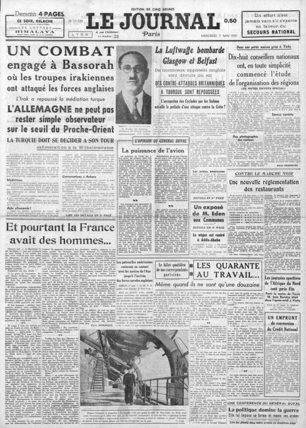 Le Journal 17729 7 mai 1941
