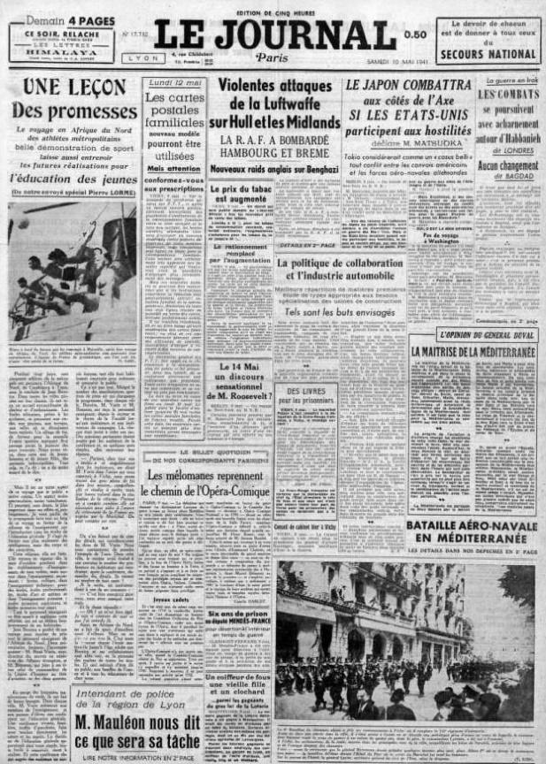 Le Journal 17732 10 mai 1941